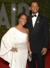 Jada Pinkett-Smith and Will Smith at the Vanity Fair Oscars 2009 Party