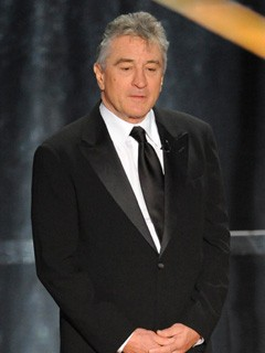 Robert DeNiro presenting the Best Actor Award at the Oscars 2009