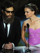 Natalie Portman presenting the Best Cinematography award with Ben Stiller