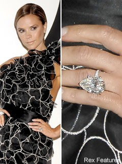 Victoria Beckham Celebrity Engagement Rings Celebrity Photos Marie