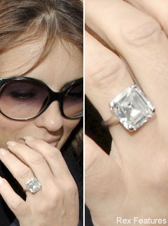 Elizabeth Hurley, Celebrity Engagement Rings, celebrity photos, Marie Claire