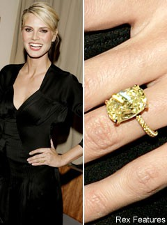 Heidi Klum, engagement ring, celebrity photos, Marie Claire