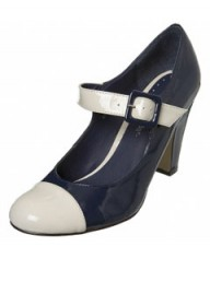 Miss Selfridge Navy Mary Jane Court Shoes
