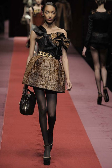 D&G A/W 2009, Milan fashion week, catwalk show, Marie Claire