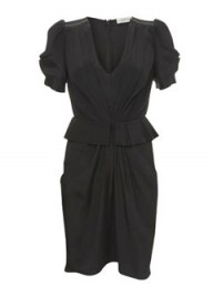 Whistles Drape Front Peplum Dress