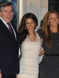 Cheryl Cole at 10 Downing Street with Gordon Brown