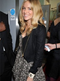 Sienna Miller in an All Saints dress