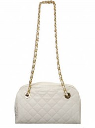 Miss Selfridge cream quilt chain bag