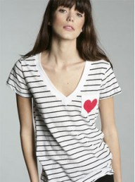Urban Outfitters V-Neck Stripe Pocket Tee