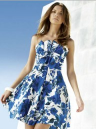 Dorothy Perkins blue floral prom dress