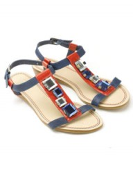 Accessorize Becca red sandals