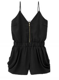Uniqlo black playsuit