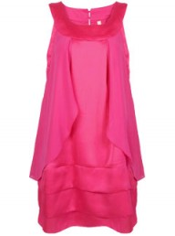 Toki & Nabi Fuschia Pink Layered Mini Dress