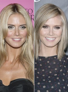 Heidi Klum, 10 best celebrity hair makeovers, hair gallery, marie claire