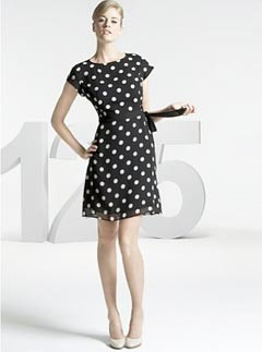 M&S 125 Years spot print shift dress
