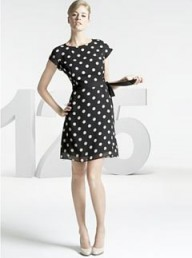 M&amp;S 125 Years spot print shift dress