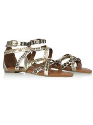 Steven by Steve Madden gold gladiator sandals