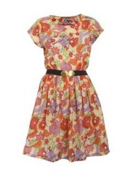 A|Wear carousel full skirt printed dress
