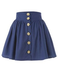 New Look flower button skirt