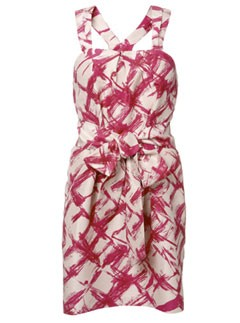 Whistles Brushstrokes Print Dress
