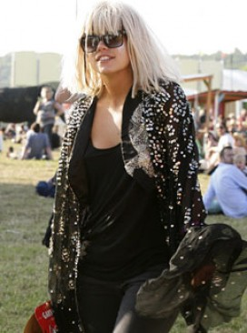 Lily Allen at Glastonbury 
