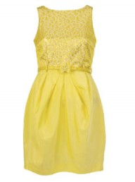 River Island yellow tulip dress