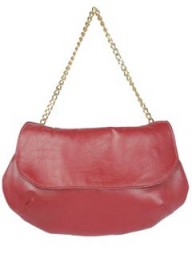 Sarah-Jane B pink chain clutch bag