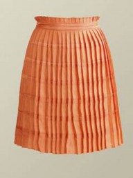 Reiss coral pleated skirt