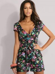 ASOS Belted Floral Playsuit