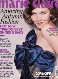 Maggie Gyllenhaal cover - Marie Claire October issue