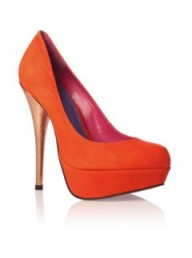 KG by Kurt Geiger Eleanor orange courts