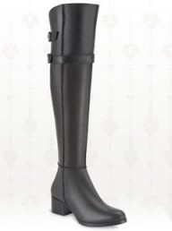 Duo Celano black leather over knee calf fit boots