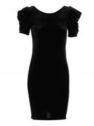 Dorothy Perkins Black velvet power dress