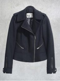 Reiss 1971 zip detail bomber jacket