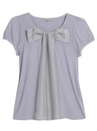 Jigsaw Cotton Silk Pussy Bow Top