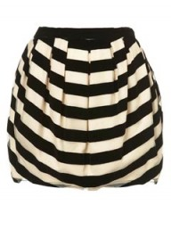 Topshop Premium Stripe Velvet Skirt