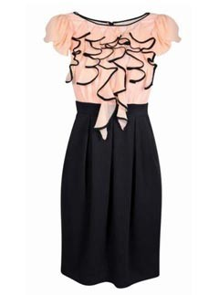 Next Pink And Black Ruffle Dress