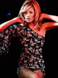 Kate Moss for Topshop one shoulder Hawaii dress
