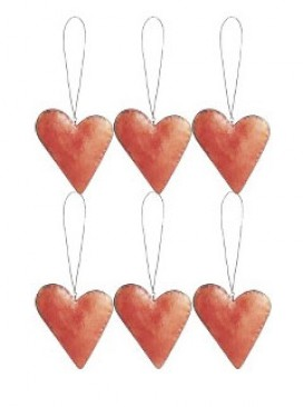 Very.co.uk, metal hearts tree decorations - Christmas Decorations - Marie Claire