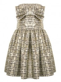 A Wear jacquard bow bandeau dress