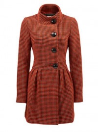 Fever London Rosy Orange coat