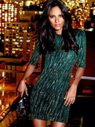 Next green glitter dress