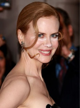 Nicole Kidman at the Nine premiere - white make-up