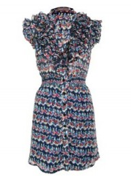A Wear Riveria Floral Ruffle Dress