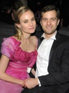 Diane Kruger and Joshua Jackson at the Golden Globes after-party
