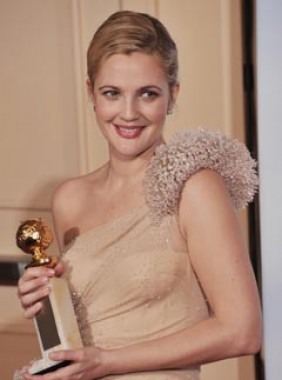 Drew Barrymore at the 2010 Golden Globes