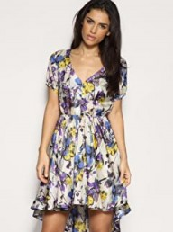 ASOS Printed Silk Tea Dress