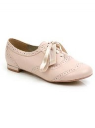 Faith baby pink brogues