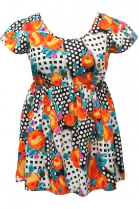 Asos flower and spot dress BIG