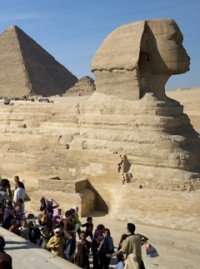 Sphinx and Pyramids in Egypt